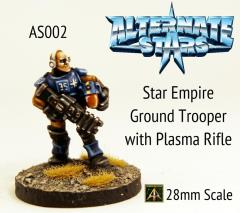 Star Empire Ground Trooper w/Plasma Rifle