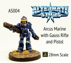 Arcus Marine w/Gauss Rifle and Pistol