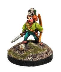 Hafling w/Sword and Bow, Barefoot