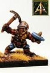 Young Armoured Dwarf w/Pickaxe & Shield