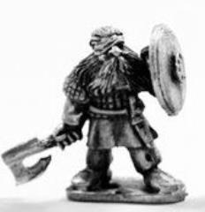 Dwarf Noble w/Axe & Shield-Bandaged Head