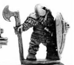 Dwarf Noble w/Axe & Large Shield