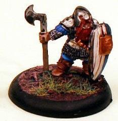 Dwarf Noble w/Axe & Large Shield