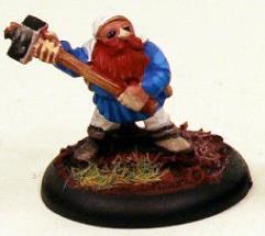 Dwarf in Hood w/Stone-Headed Hammer