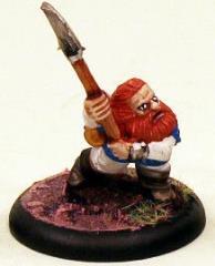 Dwarf in Leather Jerkin w/Polearm - Running