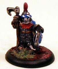 Dwarf in Full Armor & Helm w/Shield & Long-Handled Axe