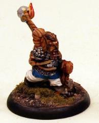Dwarf in Armor w/Fire Globes