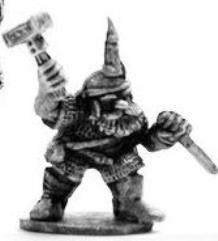 Dwarf w/Axe & Candle on Head