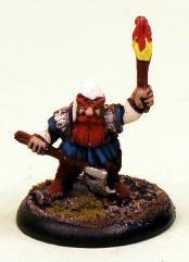 Dwarf Standing w/Torch & Axe