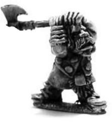 Dwarf Berserker w/Raised Two-Handed Axe
