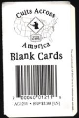 Cults Across America - Blank Cards