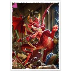 Standard Art Sleeves - Valentine Dragon Matte (100)