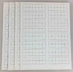 """Avalon Hill 1/2"""" Blank Counter Sheet Collection - 780 Counters!"""