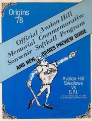 Origins '78 - Official Avalon Hill Memorial Commemorative Souvenir Softball Program and New Games Preview Guide