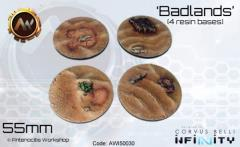 55mm Badlands Bases - Round