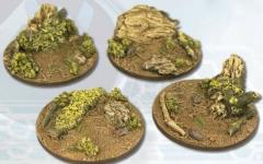 55mm Deep Forest Bases - Round
