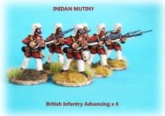 British Infantry - Advancing