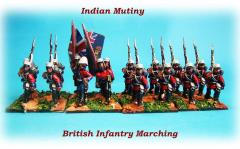 British Infantry Unit - Advancing/Marching