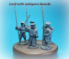 Samurai Lord w/Sword Raised & 4 Ashigaru Guards