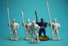 Ashigaru Guards Standing w/Polearms