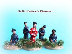 Ladies Wearing Kimonos