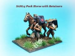 Pack Horse & Retainers Carrying Supplies