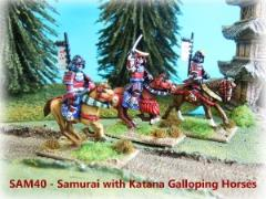 Mounted Samurai w/Katana - Charging