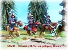 Mounted Samurai w/Yari - Charging