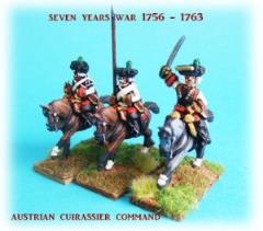 Austrian Cuirassiers Command on Charging Horses