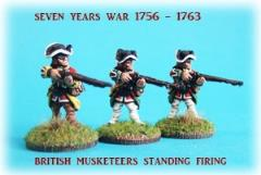 British Musketeer Standing Firing