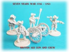British 3lb Gun Battery - 3 Guns and Crews