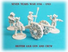 British 12lb Gun Battery - 3 Guns and Crews