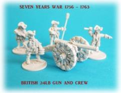 British 24lb Gun Battery - 3 Guns and Crews