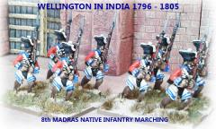 8th Madras Native Infantry - Marching