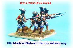 8th Madras Native Infantry - Advancing