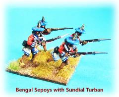 Bengal Sepoy Infantry w/Sundial Turban - Advancing