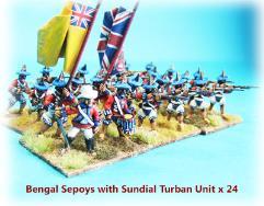 Bengal Sepoy Infantry w/Sundial Turban - Mixed Units