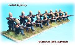 British Infantry Firing w/Helmets