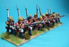 British Infantry Advancing/Marching