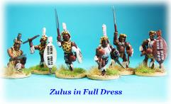 Zulu Warriors in Full Dress