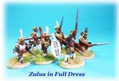 Zulu Warriors in Full Dress Unit