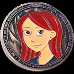 Antimony and Kate Challenge Coin