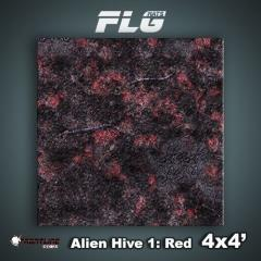 4' x 4' - Alien Hive, Red