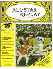"Vol. 3, #4 ""Great Thoroughbreds, Statis Pro Baseball 1981"""