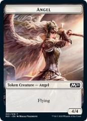 Angel // Saproling Double-sided Token (T) (Foil)