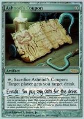 Ashnod's Coupon (P) (Foil)