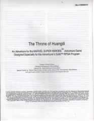 Series #3 - Marvel Super Heroes, The Throne of Huangdi