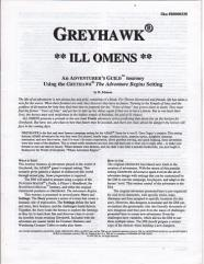 Series #3 - Greyhawk, Ill Omens