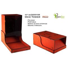 Dice Tower - Red, Folding