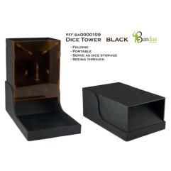 Dice Tower - Black, Folding